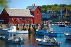 Motif number one. This is the famous red barn called motif no. 1 in rockport, massachusets stock images