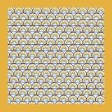 Motif oriental de fond avec le cadre et le Th colorés de demi-cercles Image libre de droits