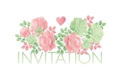Motif rose de fleur d'offre décorative de couleurs en pastel Image stock