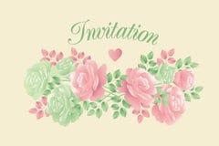 Motif rose de fleur d'offre décorative de couleurs en pastel Images libres de droits