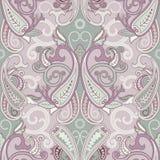 Motif sans couture d'oriental de patternwith de Paisley Image libre de droits