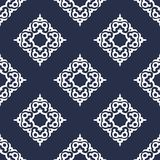 Motif sans couture de damassé de luxe Vecteur Image stock