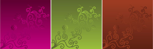 Motif on three color backgrounds Stock Photography