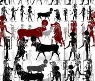 Motifs abstraits d'Egypte antique photo stock