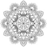 Motifs de mandala de fleur Éléments décoratifs de cru Modèle oriental, illustration de vecteur Page de livre de coloriage Image stock