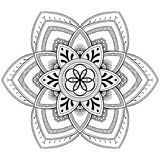 Motifs de mandala de fleur Éléments décoratifs de cru Modèle oriental, illustration de vecteur Page de livre de coloriage Photo libre de droits