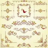 Motifs fleuris de Noël Photo stock