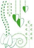 Motifs floraux de source Photo stock