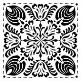 Motifs hongrois carrés abstraits Image libre de droits