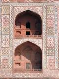 Motifs & Pattern. Sikandra Gatway, Agra Tomb of Akbar, Mughal emperor Islamic, hindu, buddhist, jain, christian, motifs, style, mausoleum, sandstone, marble Stock Photography