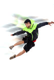 Motion. Portrait of young man in motion concept Royalty Free Stock Photography
