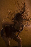 Motion. Expressive dance in performance of the young girl Stock Photo