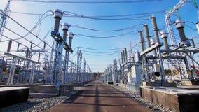 Motion along powerful electrical transmission substation