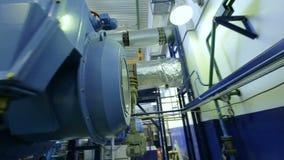 Motion around Compressor with Round Glass Window stock video footage
