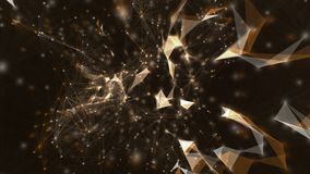 Motion background of abstract plexus structure with triangles, lines and dots. royalty free illustration