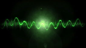 Motion Background with Audio Waves stock footage