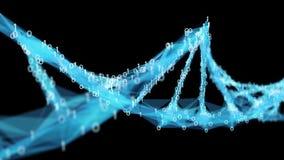 Motion Background Digital Binary Polygon Plexus DNA molecule 4k Loop Alpha Matte stock footage