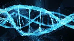 Motion Background Digital Polygon Plexus DNA molecule 4k Loop stock video