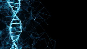 Motion Background Digital Polygon Plexus DNA molecule 4k Loop stock video footage