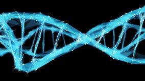 Motion Background Digital Polygon Plexus DNA molecule 4k Loop Alpha Matte stock video footage