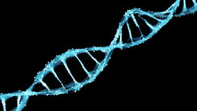 Motion Background Digital Polygon Plexus DNA molecule 4k Loop Alpha Matte stock video