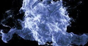 Motion Background VJ Loop - Blue Particles 4k + Matte stock video footage