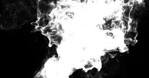 Motion Background VJ Loop - Cyan Particles 4k + Matte stock video