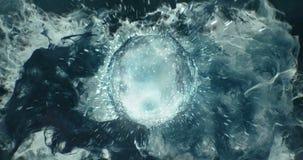 Motion Background VJ Loop - Lens Sphere Grey Noire Particles 4k stock video