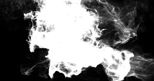 Motion Background VJ Loop - Noire Smoke Particles 4k + Matte stock video footage