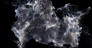 Motion Background VJ Loop - Noire Smoke Particles 4k + Matte stock footage