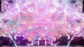 Motion Background VJ Loop - Purple Pink Orange Particles HD stock video footage