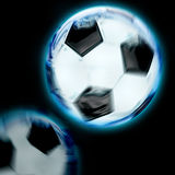Motion blue football Royalty Free Stock Image