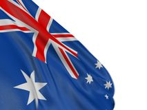 Motion Blur 3D Australian flag. 3D Australian flag with fabric surface texture. White background Stock Image