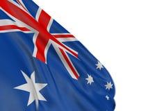 Motion Blur 3D Australian flag Stock Image