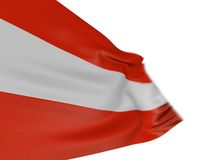 Motion Blur 3D Austrian flag. 3D Austrian flag with fabric surface texture. White background Royalty Free Stock Image