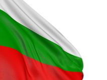 Motion Blur 3D Bulgarian flag. 3D Bulgarian flag with fabric surface texture. White background Royalty Free Stock Photography