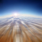 Motion blur abstract background, fast moving in the sky Stock Photo