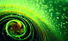 Motion Blur Abstract Background with Green Colors Stock Photo