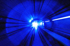 Motion Blur Abstract - in an underground tunnel heading towards Royalty Free Stock Images