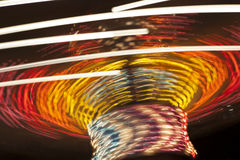 Motion Blur of Amusement Park Ride Royalty Free Stock Image