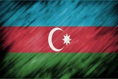Motion blur backgound or texture with blending  Azerbaijan flag Stock Photos