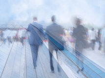 Motion blur business people Stock Photography