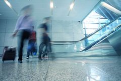 Motion blur business people walking Stock Images