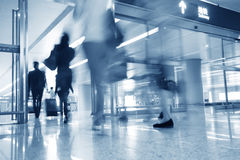 Motion blur business people walking Royalty Free Stock Image