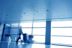 Motion blur business people walking Stock Image