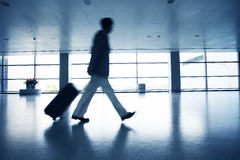 Motion blur business people walking Royalty Free Stock Images