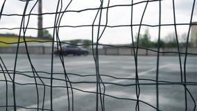 Motion blur two cars drifting during drift competition. Slow motion. Motion blur car drifting during drift competition stock video