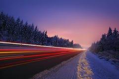 Motion Blur of Car Driving Stock Photos