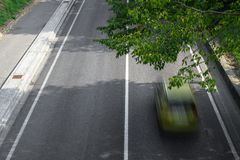 Motion blur of cars over the road Stock Image