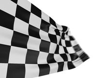 Motion Blur Checkered Flag. Large Motion Blur Checkered Flag with fabric surface texture. White background Royalty Free Stock Photography